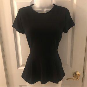 Black Peplum Forever 21 Shirt